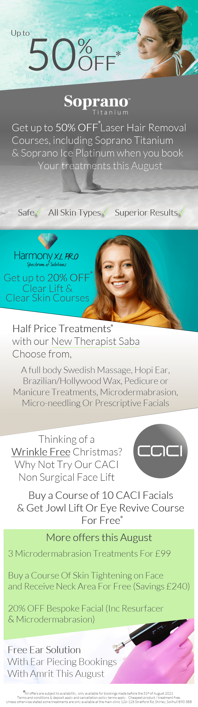beauty clinic offers Solihull